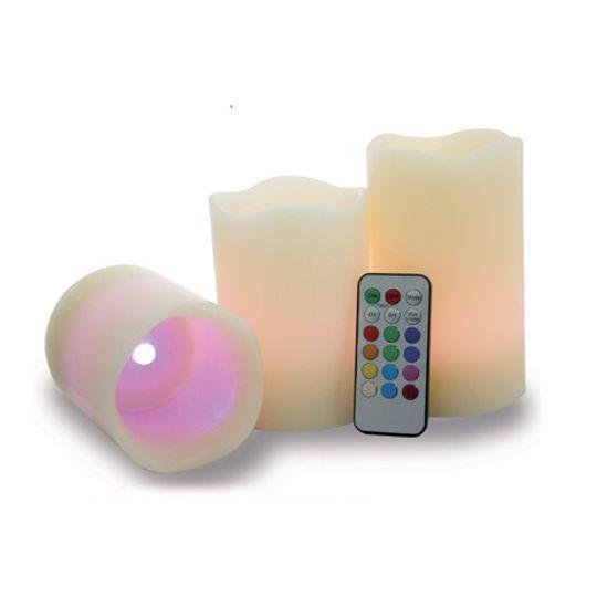 Светодиодные свечи с пультом (3 шт.)