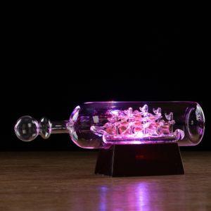 Корабль в бутылке с подсветкой Семь футов под килем