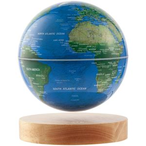 Левитирующий глобус над деревянной подставкой 14 см