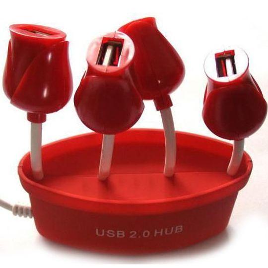 USB Хаб Букет роз Вид сверху