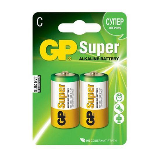 Батарейка GP Super Alkaline C (LR14)