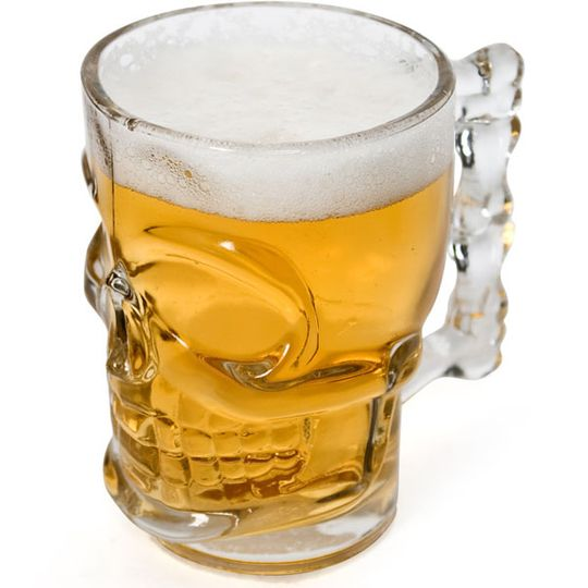 Пивной бокал Череп