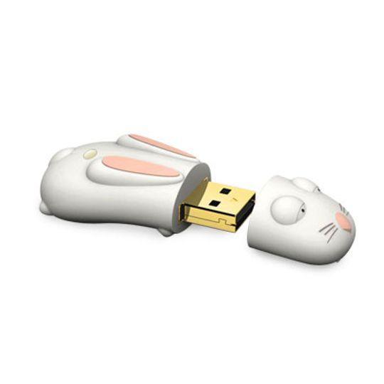 Флешка Кролик Белый 4 Гб