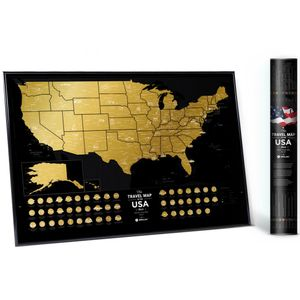 Скретч-карта США Travel Map USA Black