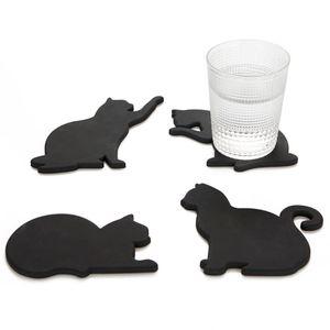 Магнитная подставка под чашку Кошка Cat (4 шт)