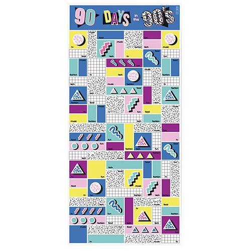 Скретч-постер 90 дней в 90-х