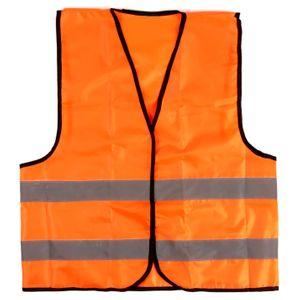 Сигнальный светоотражающий жилет (оранжевый)