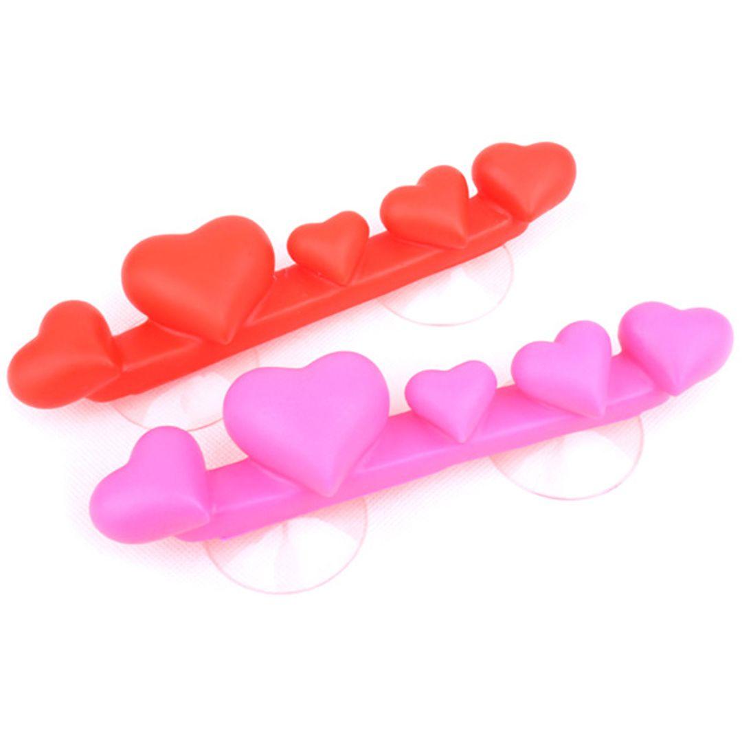 Держатель для зубных щеток Сердечки (Розовый и красный)
