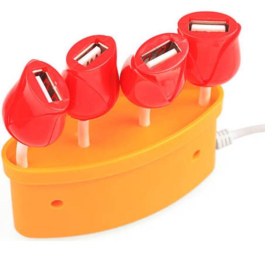 USB Хаб Букет роз (Оранжевый)