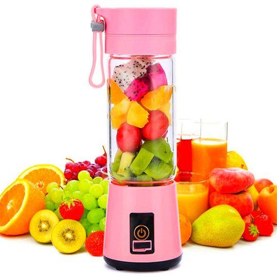 Портативный USB Миксер Juice cup (Розовый)