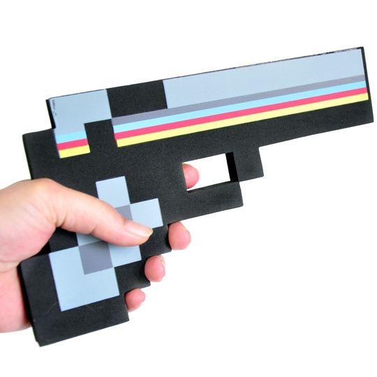 Пиксельный пистолет Minecraft (Черный)