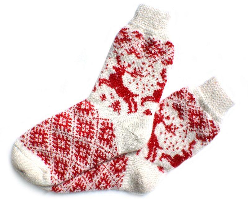 Носки шерстяные с оленями