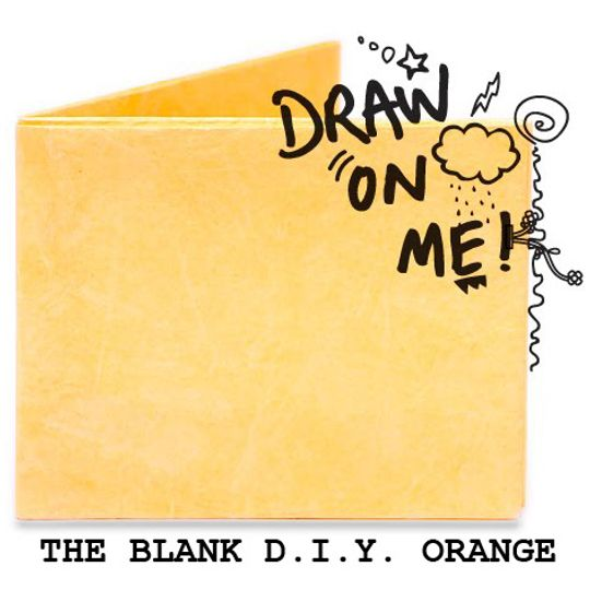 Бумажный Бумажник Mighty Wallet The Blank D.I.Y. Orange