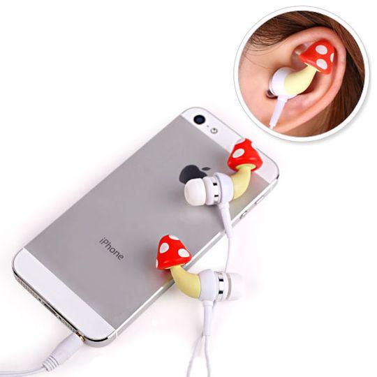 Crazy Earphones Наушники Грибы Использование