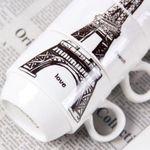 Набор чашек Эйфелева башня Вблизи