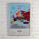 Скретч-карта Европы Silver (на английском)