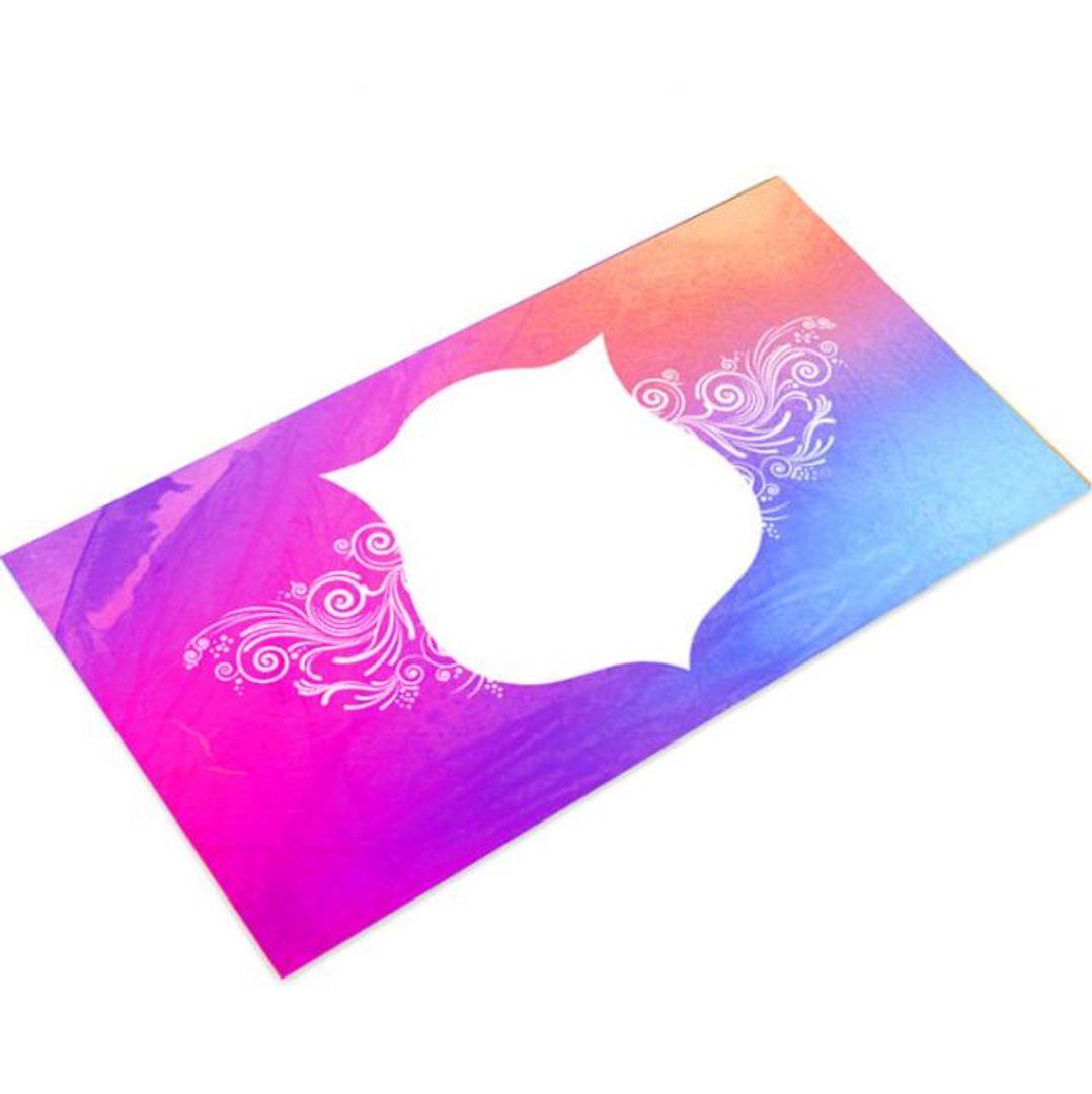 Конверт для денег с окошком (Фиолетовый)