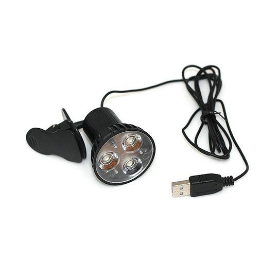 USB Лампочка на прищепке 3 светодиода