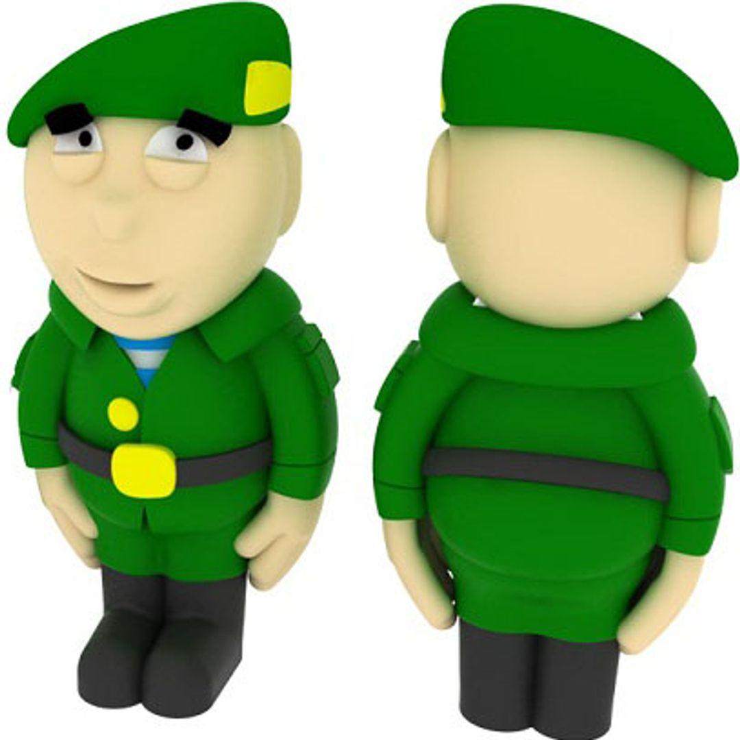 Флешка Солдат 8 Гб