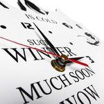 Часы настенные Зима близко Циферблат и стрелки