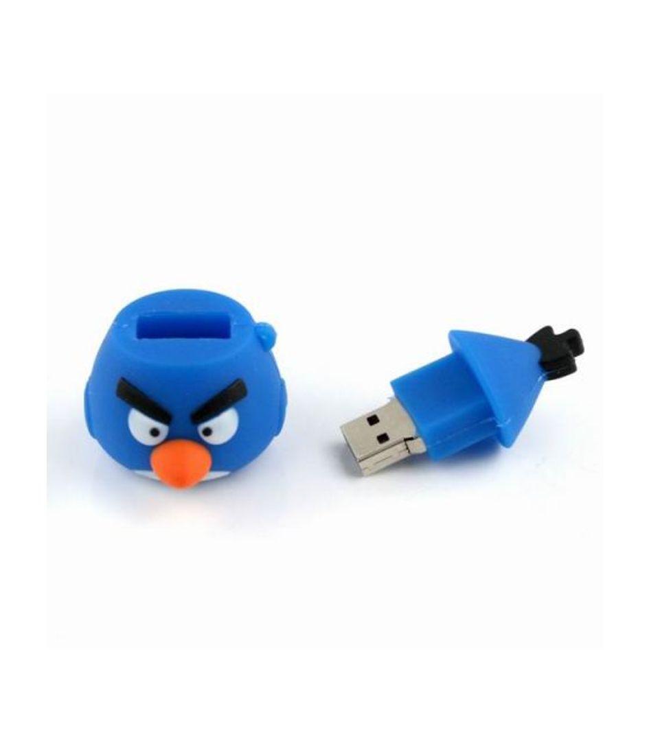 Флешка Angry Birds Синяя птичка Объемная 4 Гб