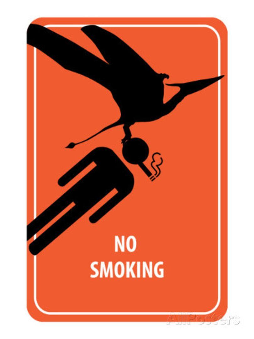 Металлическая табличка No Smoking
