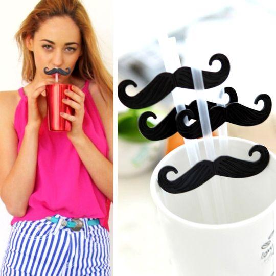 Трубочки для коктейля Усы Mustache Использование