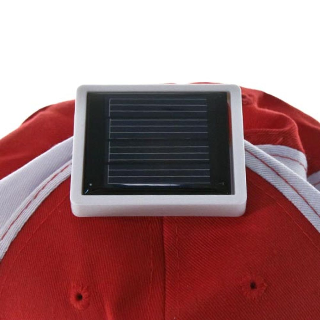 Бейсболка с вентилятором на солнечной батарее