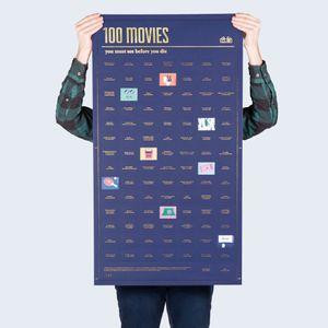 Плакат 100 фильмов которые нужно посмотреть