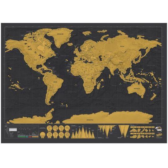 Карманная скрэтч-карта мира Deluxe edition (на английском)