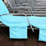 Пляжная сумка-лежак (Голубая) В развернутом виде
