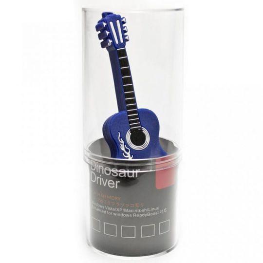 Флешка Гитара 8 Гб (Синяя) В упаковке
