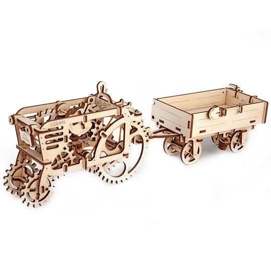 Механический 3D Пазл Ugears Прицеп к трактору Модель Трактор приобретается отдельно
