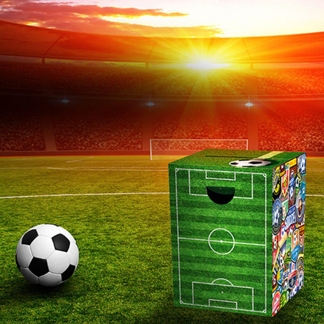 Складной картонный табурет Футбол Soccer