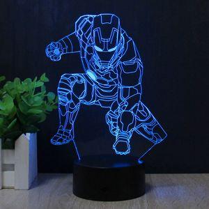 3D Лампа Железный человек Iron man