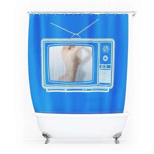 Занавеска для ванной Телевизор Шторкус