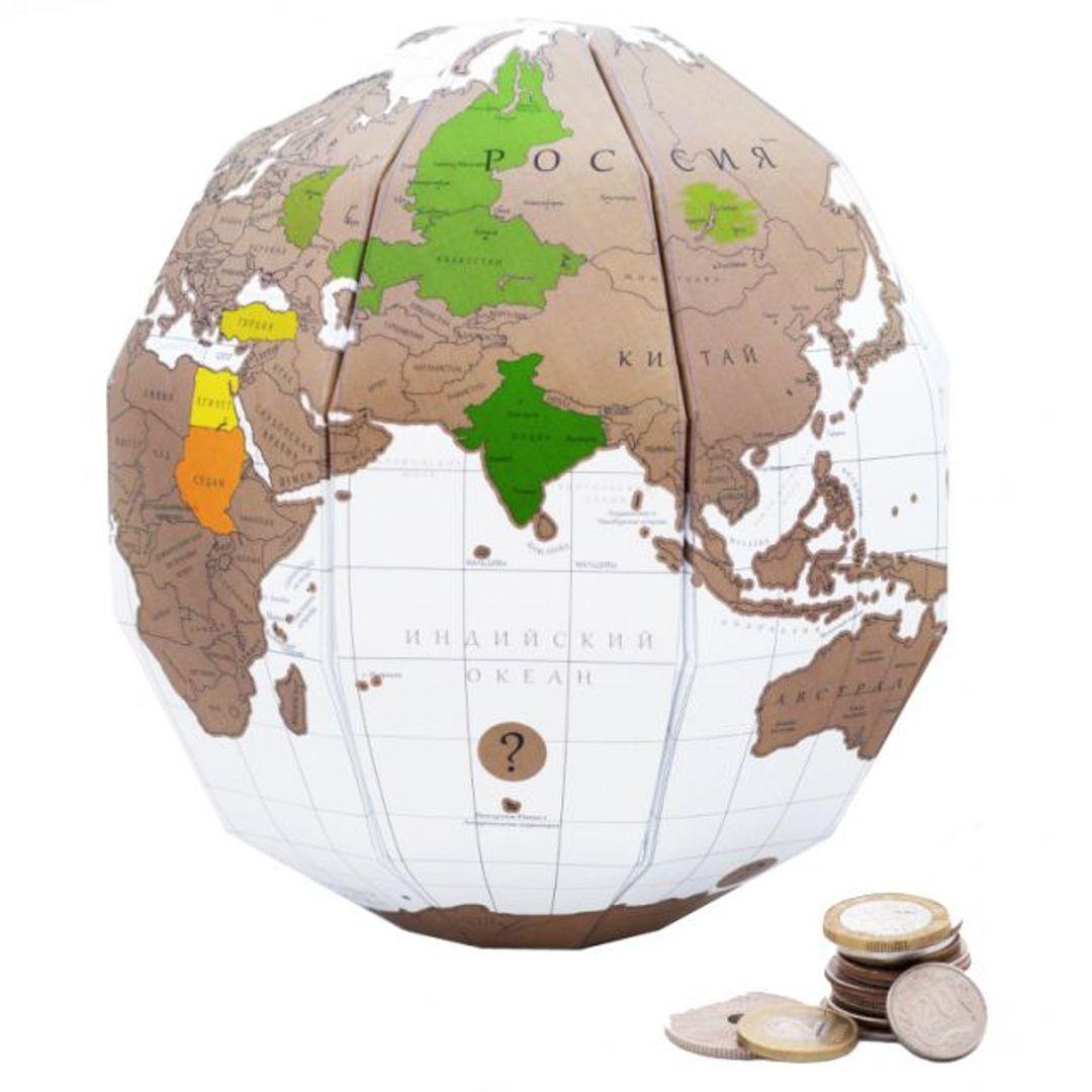 Скретч-глобус True World (на русском)