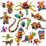 Конструктор Липучка 1200 деталей Собирайте игрушки из шариков!