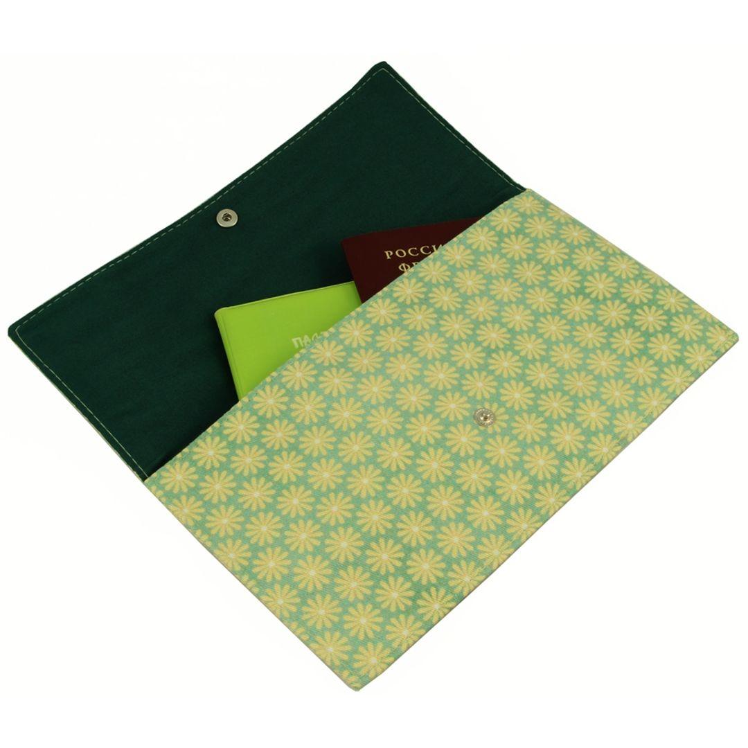 Конверт для путешествий Yellow Green С документами