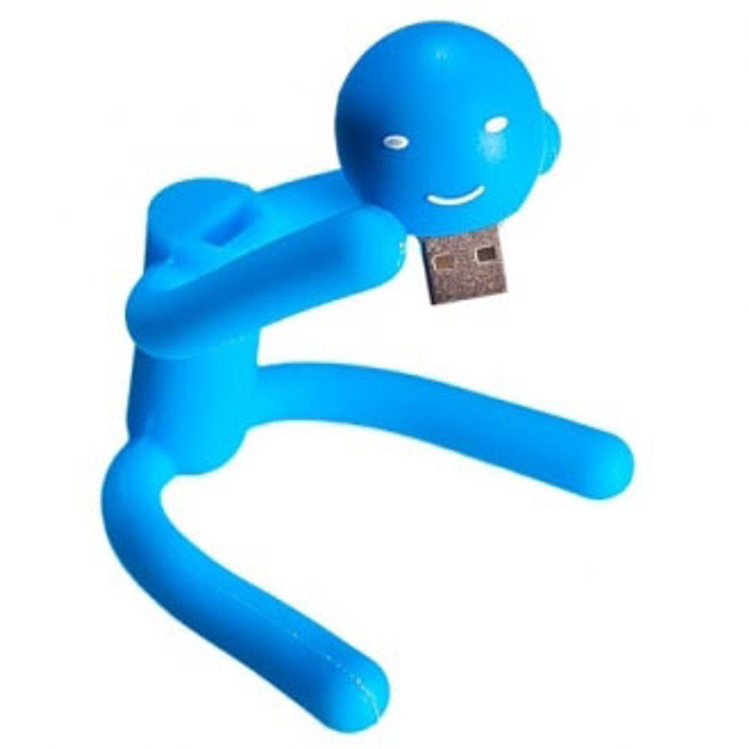 Флешка Человечек Антистресс 8 Гб (Голубой)