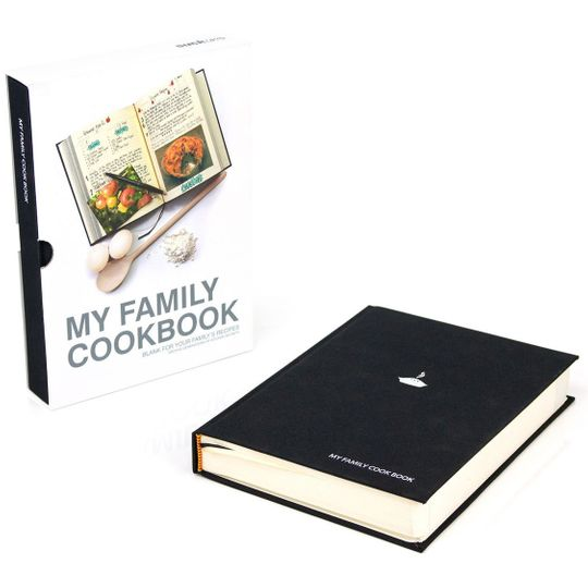 Семейная кулинарная книга My Family Cookbook (Черный)