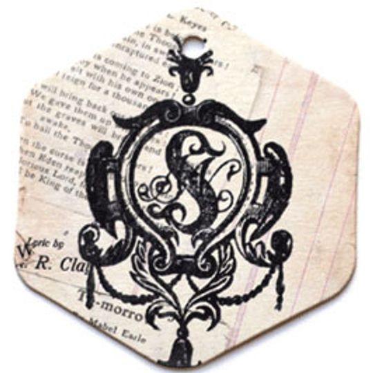 Бирка упаковочная Викторианская — шестигранник