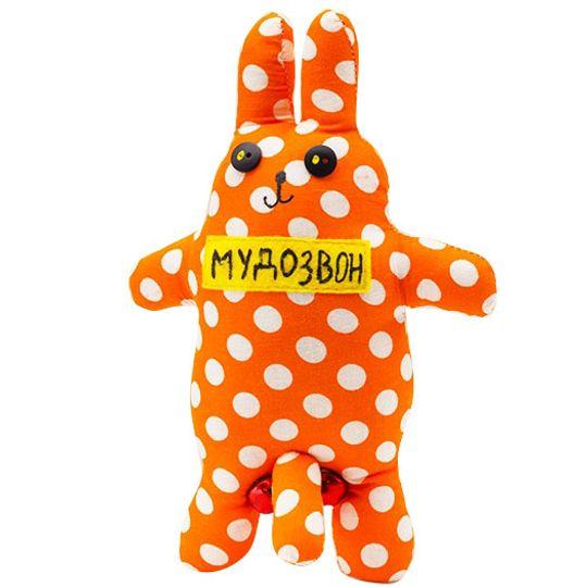 Игрушка Мудозвон оранжевый в горошек