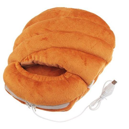 Тапок с подогревом от USB Батон Хлеба
