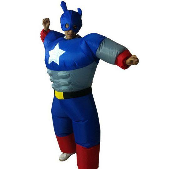 Надувной костюм Капитан Америка