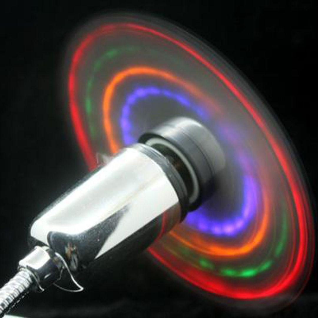 USB Вентилятор с разноцветной подсветкой