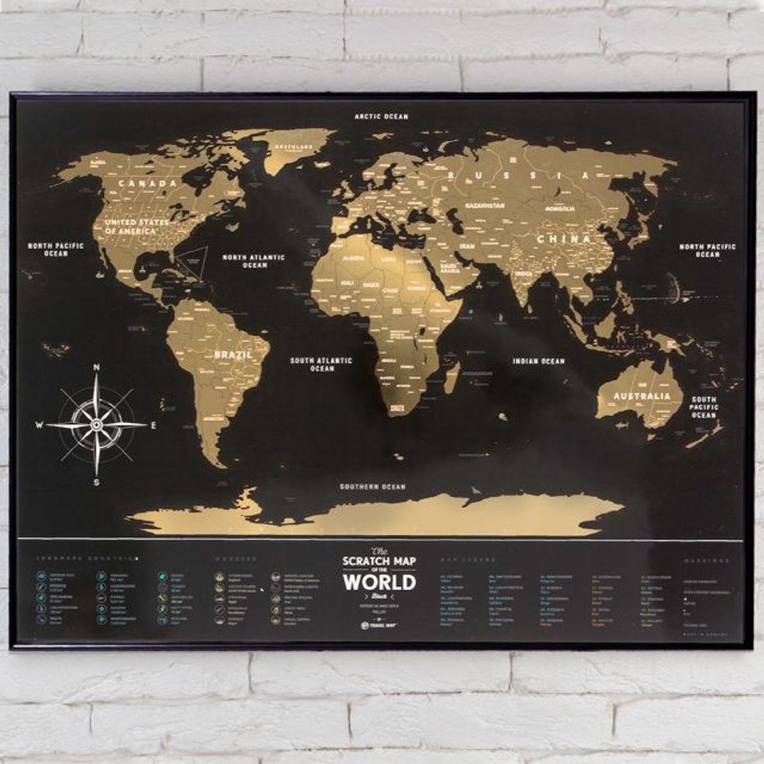 Скретч-карта мира Black (на английском)