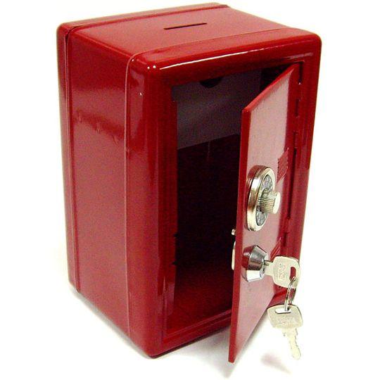 Копилка Металлический сейф (Красный) С ключами в дверце