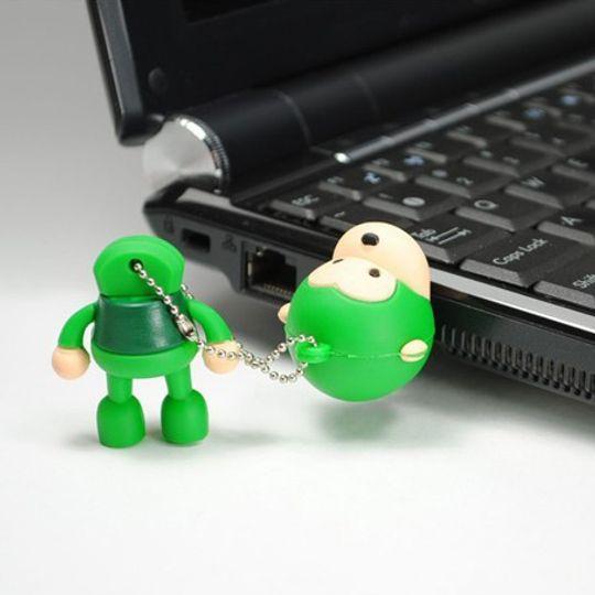 Флешка Обезьянка 8 Гб (Зеленый) Использование