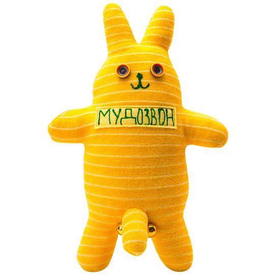 Игрушка Мудозвон желтый в полоску